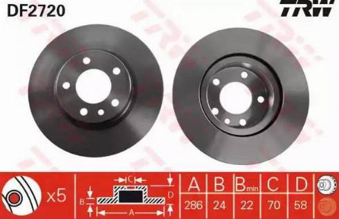 TRW DF2720 - Bremžu diski interparts.lv