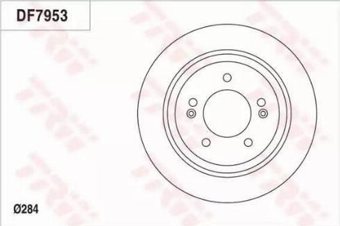 TRW DF7953 - Bremžu diski interparts.lv
