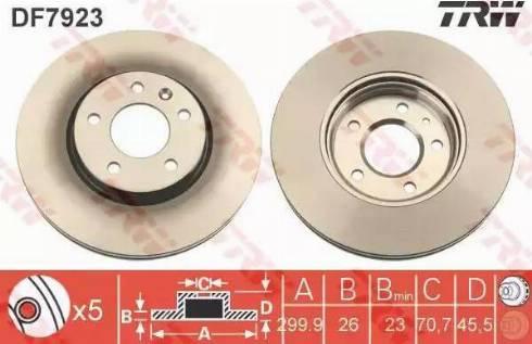 TRW DF7923 - Bremžu diski interparts.lv