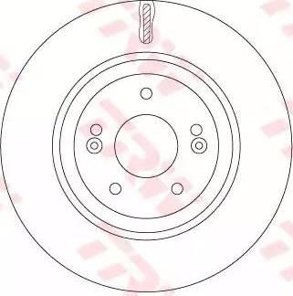 TRW DF7592 - Bremžu diski interparts.lv