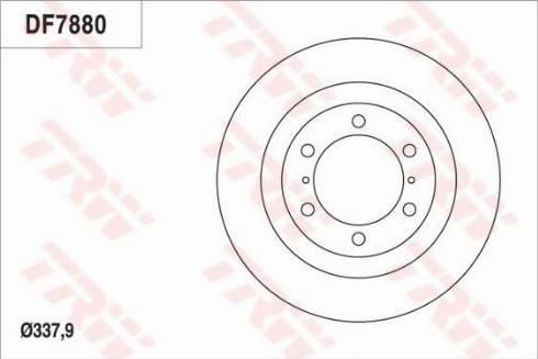 TRW DF7880S - Bremžu diski interparts.lv