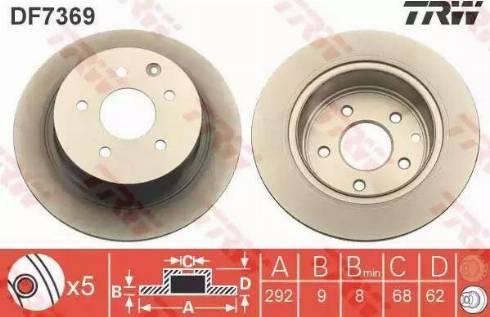 TRW DF7369 - Bremžu diski interparts.lv