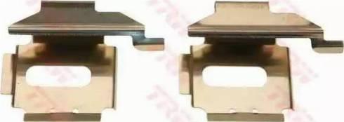 TRW PFK453 - Piederumu komplekts, Disku bremžu uzlikas interparts.lv