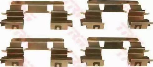 TRW PFK463 - Piederumu komplekts, Disku bremžu uzlikas interparts.lv