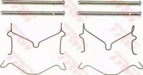 TRW PFK403 - Piederumu komplekts, Disku bremžu uzlikas interparts.lv