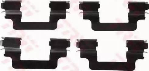 TRW PFK426 - Piederumu komplekts, Disku bremžu uzlikas interparts.lv