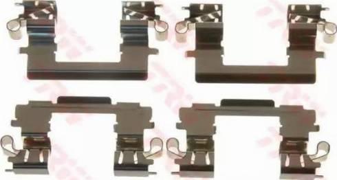 TRW PFK594 - Piederumu komplekts, Disku bremžu uzlikas interparts.lv