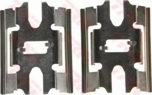 TRW PFK554 - Piederumu komplekts, Disku bremžu uzlikas interparts.lv
