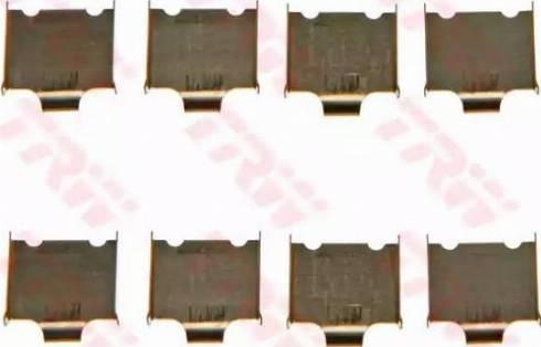 TRW PFK565 - Piederumu komplekts, Disku bremžu uzlikas interparts.lv