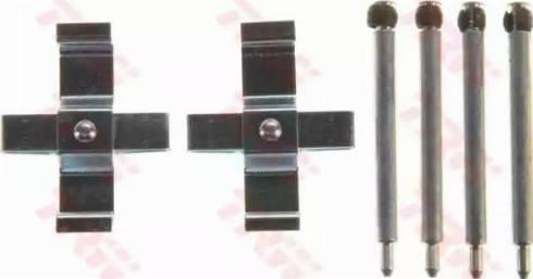 TRW PFK561 - Piederumu komplekts, Disku bremžu uzlikas interparts.lv