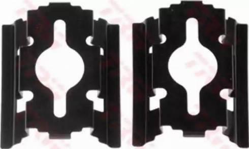 TRW PFK502 - Piederumu komplekts, Disku bremžu uzlikas interparts.lv