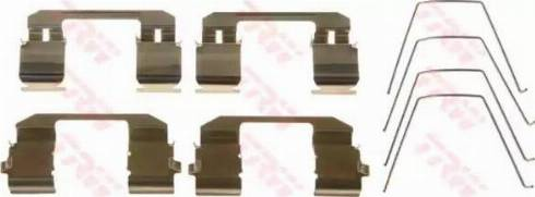 TRW PFK583 - Piederumu komplekts, Disku bremžu uzlikas interparts.lv