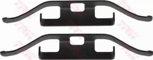 TRW PFK536 - Piederumu komplekts, Disku bremžu uzlikas interparts.lv