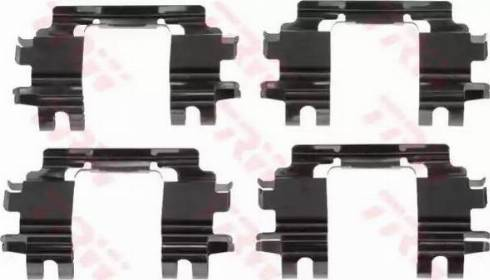 TRW PFK525 - Piederumu komplekts, Disku bremžu uzlikas interparts.lv