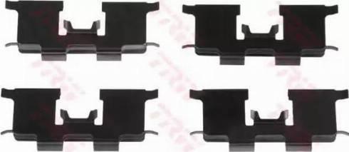 TRW PFK522 - Piederumu komplekts, Disku bremžu uzlikas interparts.lv