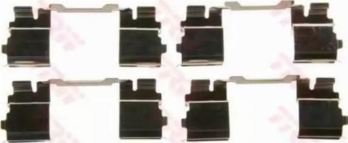 TRW PFK574 - Piederumu komplekts, Disku bremžu uzlikas interparts.lv