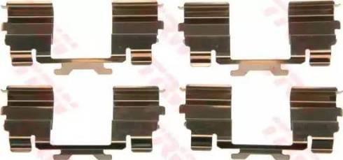 TRW PFK571 - Piederumu komplekts, Disku bremžu uzlikas interparts.lv