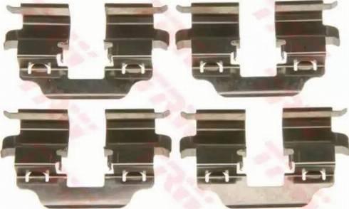 TRW PFK610 - Piederumu komplekts, Disku bremžu uzlikas interparts.lv