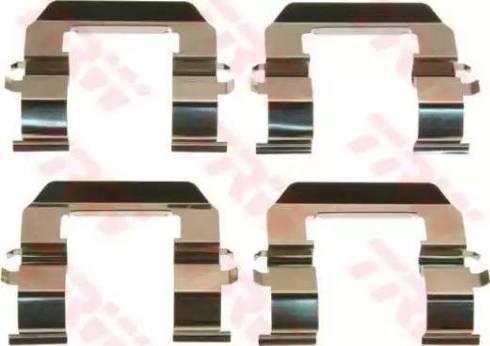 TRW PFK613 - Piederumu komplekts, Disku bremžu uzlikas interparts.lv