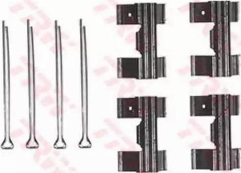TRW PFK131 - Piederumu komplekts, Disku bremžu uzlikas interparts.lv