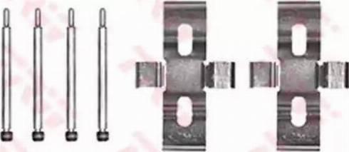 TRW PFK172 - Piederumu komplekts, Disku bremžu uzlikas interparts.lv