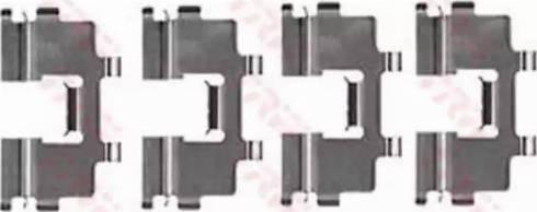 TRW PFK177 - Piederumu komplekts, Disku bremžu uzlikas interparts.lv
