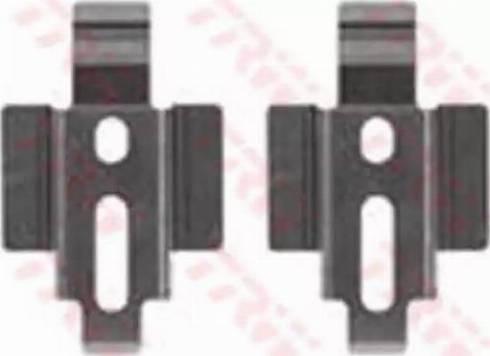 TRW PFK342 - Piederumu komplekts, Disku bremžu uzlikas interparts.lv