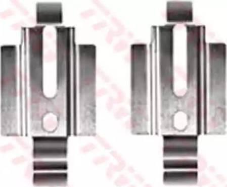 TRW PFK351 - Piederumu komplekts, Disku bremžu uzlikas interparts.lv