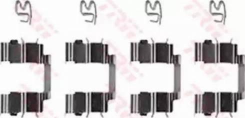 TRW PFK368 - Piederumu komplekts, Disku bremžu uzlikas interparts.lv