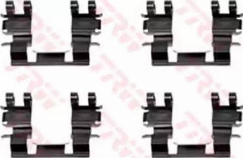 TRW PFK265 - Piederumu komplekts, Disku bremžu uzlikas interparts.lv