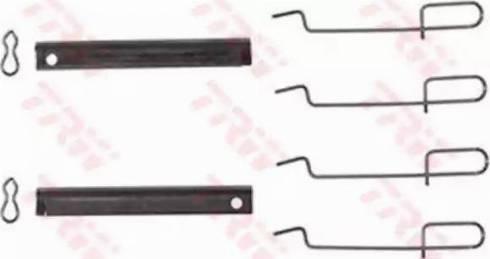 TRW PFK210 - Piederumu komplekts, Disku bremžu uzlikas interparts.lv