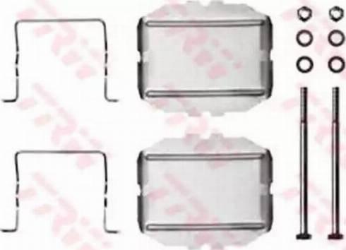 TRW PFK211 - Piederumu komplekts, Disku bremžu uzlikas interparts.lv
