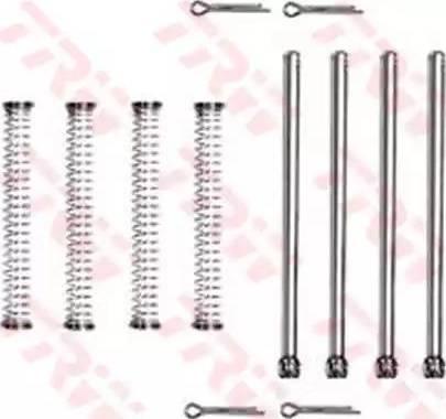 TRW PFK289 - Piederumu komplekts, Disku bremžu uzlikas interparts.lv