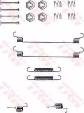 TRW SFK313 - Piederumu komplekts, Bremžu loki interparts.lv