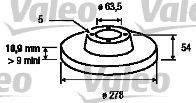 Valeo 197013 - Bremžu diski interparts.lv