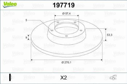 Valeo 197719 - Bremžu diski interparts.lv