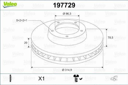 Valeo 197729 - Bremžu diski interparts.lv