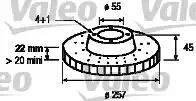 Valeo 186451 - Bremžu diski interparts.lv