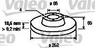 Valeo 186171 - Bremžu diski interparts.lv
