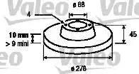 Valeo 186845 - Bremžu diski interparts.lv