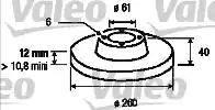 Valeo 186258 - Bremžu diski interparts.lv