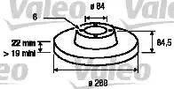 Valeo 187040 - Bremžu diski interparts.lv