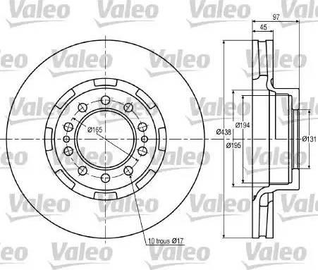 Valeo 187024 - Bremžu diski interparts.lv
