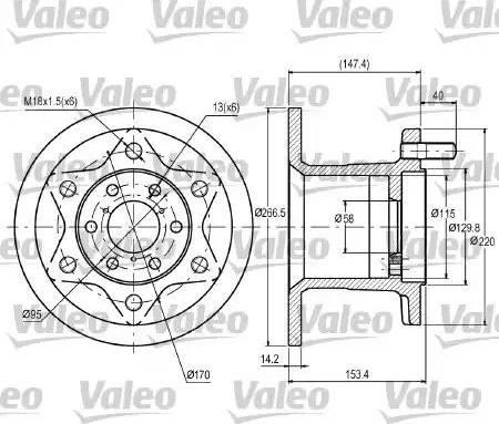 Valeo 187028 - Bremžu diski interparts.lv