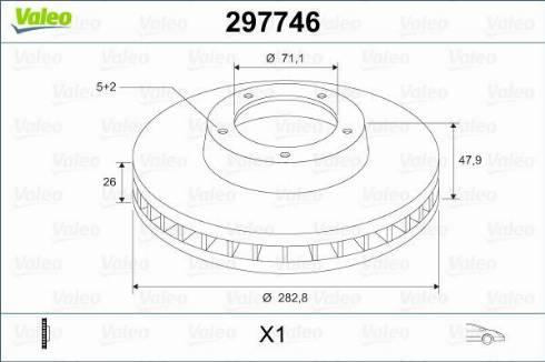 Valeo 297746 - Bremžu diski interparts.lv