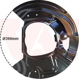Van Wezel 0687372 - Dubļu sargs, Bremžu disks interparts.lv