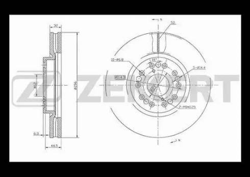 Zekkert BS-5498 - Bremžu diski interparts.lv