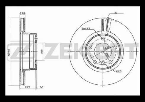 Zekkert BS-5400 - Bremžu diski interparts.lv