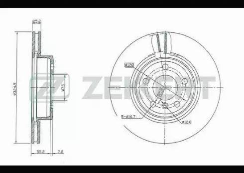 Zekkert BS-5410 - Bremžu diski interparts.lv