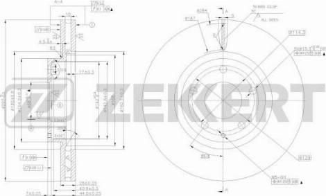 Zekkert BS-5488 - Bremžu diski interparts.lv